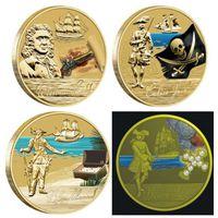 ТУВАЛУ Золотой век пиратства 4 монеты, копии