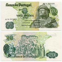 Португалия. 20 эскудо (образца 1971 года, P173, подпись 4, aUNC)
