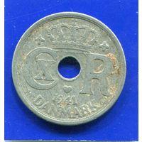 Дания 25 эре 1941 , цинк , 2-я Мировая