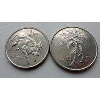1 и 2 писо 1994 года Филиппины (цена за все)- из коллекции