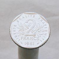 Франция 2 франка 1981