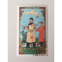 Монголия 1988. Национальные виды спорта.