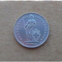 Швейцария, 2 франка 1992 г., состояние