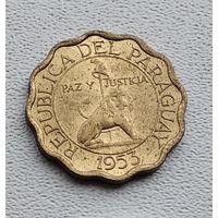 Парагвай 10 сентимо, 1953 3-15-19