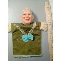 Винтажная Кукла Бабушка ГДР, театральная, на руку