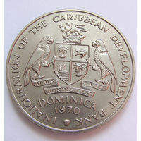 О. Доминика 4 доллара 1970 г