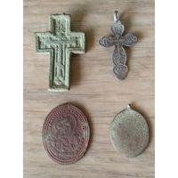 Религиозный лот. Крестик 84 царская проба.