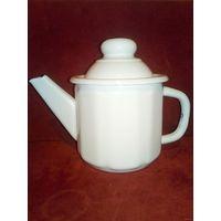 Чайник заварник эмалированный около 1 л с крышкой
