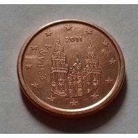 1 евроцент, Испания 2011 г.