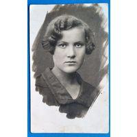 Фото девушки. Мстиславль. 1931 г. 8х13 см.