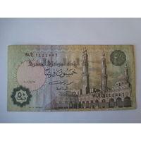 Банкнота 50 пиастр, Египет.