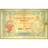 Джибути 5 франков 1928-38гг.