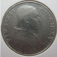 Ватикан 50 лир 1955 г. В холдере (gk)