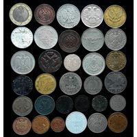 """32 """"ОРЛЯНКИ"""" С НЕЧАСТОЙ ДЕНГОЙ ЕЛИЗАВЕТЫ 1743 Г.(в крыле 7 перьев) И СЕРЕБРОМ (10 грошей 1840 года MW)"""