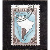 Аргентина.Ми-426. Карта Южной Америки и Аргентины.1936.