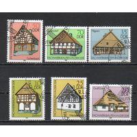 Фахверковая архитектура  ГДР 1981 год серия из 6 марок