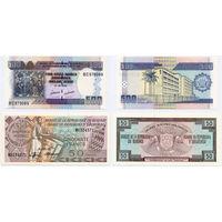 Лот из 2 бон: 50 франков 1993, 500 франков 2009, Бурунди. UNC