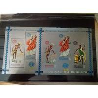 1965 Бурунди. Искусство. Костюмы. Танцы. 2 блока. MNH(**)