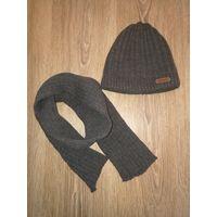 Шапка и шарф. Зимний комплект для мальчика. Новый.