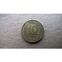 Франция 10 сантимов, 1977г. (Б-3)