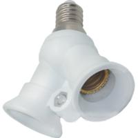 Переходник - разветвитель цоколя для ламп Е14 на 2Е14. Распродажа.
