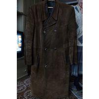 Пальто мужское зимнее из натуральной замши с меховой подкладкой (Германия)