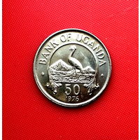 54-05 Уганда, 50 центов 1976 г.