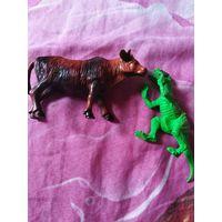 Динозавр и корова.