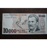 Бразилия 10000 крузеиро образца 1991-1993 года AUNC p233c
