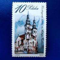 Марка Польша 1984 год. Архитектура Религия
