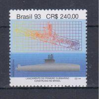 [1978] Бразилия 1993. Корабли.Подводная лодка.