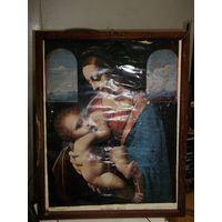 Рамка деревянная с Мадонной Литой(внутр. размер 49*39 см)