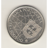 100 эскудо 1989 г. Открытие Анзорских островов.