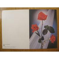 Киндрова. 8 Марта. Цветы, розы. 1989. Двойная, не согнутая, чистая.