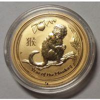 Австралия 2016 золото (1/10 oz) 'Lunar - Year of the Monkey' (в капсуле)