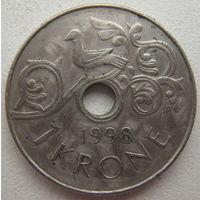 Норвегия 1 крона 1998 г.