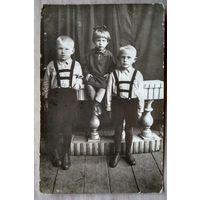 Фото детей 1930-х. 9.5х14.5 см