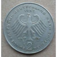 ФРГ монета 2 марки 1987