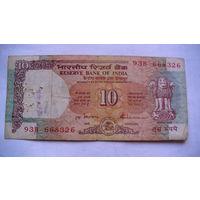 Банкнота Индия 10 рупиЙ 668326 распродажа