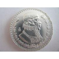 Мексика 1 песо 1967 год Серебро