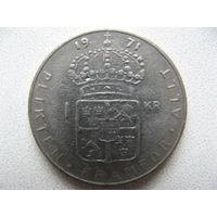 Швеция 1 крона 1971 г.