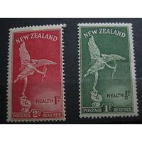 Марки - Новая Зеландия, ангелы с луками - культура, искусство, скульптура