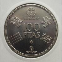 """Испания 100 песет 1980 """"Чемпионат мира по футболу 1982"""""""