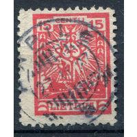 Литва - 1923г. - стилизованный литовский крест (15 с) - 1 марка - гашёная (Лот 90М). Без МЦ!