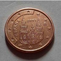 1 евроцент, Испания 2007 г.