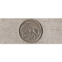 Новая Зеландия 20 центов 1969 /фауна/ (F)