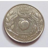 США 25 центов квотер 1999 P Штат Джорджия