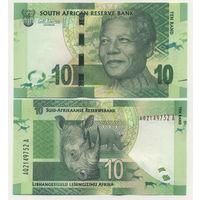 ЮАР 10 рандов образца 2012 года UNC p133