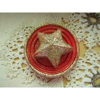 Свеча на тарелочке Звезда