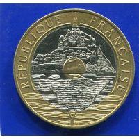 Франция 20 франков 1992 , Мон-Сен-Мишель